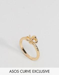 Кольцо в виде змеи эксклюзивно для ASOS CURVE - Золотой