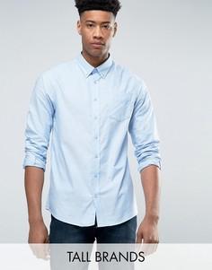 Голубая оксфордская рубашка с длинными рукавами Jacamo TALL - Синий