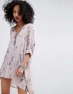 Пижамное платье-рубашка Religion - Серый