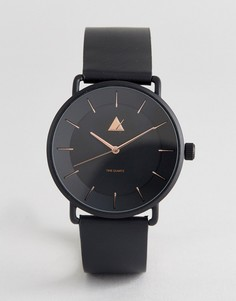 Черные часы с отделкой цвета розового золота ASOS - Черный