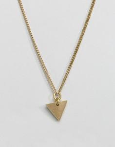 Ожерелье с треугольником Made - Золотой
