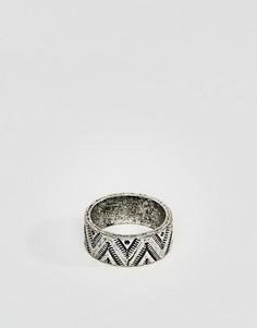 Серебристое кольцо в ацтекском стиле Classics 77 - Серебряный