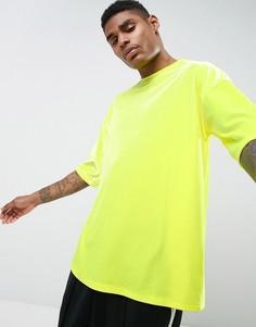 Желтая велюровая оversize-футболка ASOS - Желтый