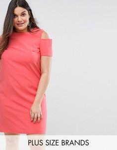 Платье-футляр с молнией на спине Lovedrobe - Розовый