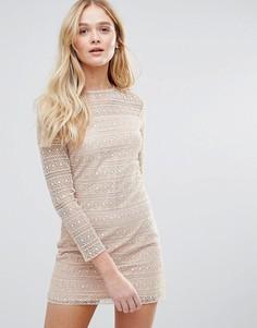 Кружевное платье The English Factory - Розовый