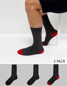 Набор из 3 пар носков с принтом Pringle - Серый