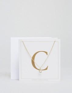 Ожерелье c буквой С Johnny Loves Rosie - Золотой