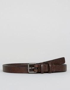 Кожаный узкий ремень Royal Republiq - Коричневый