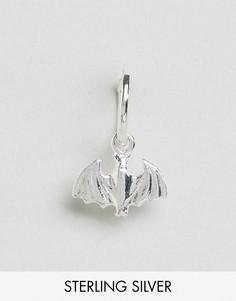 Серебряная серьга-кольцо с подвеской Regal Rose - Серебряный