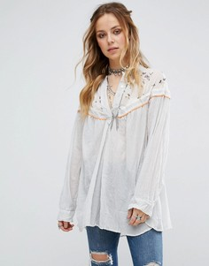 Блузка Free People Hearts and Colours - Белый