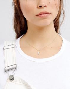 Тонкое ожерелье ограниченной серии с подвесками - Золотой Asos