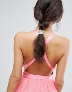 Резинка для волос ограниченной серии с бусинами - Серый Asos