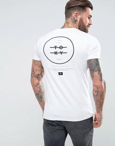 Обтягивающая футболка с принтом Tokyo ASOS - Белый