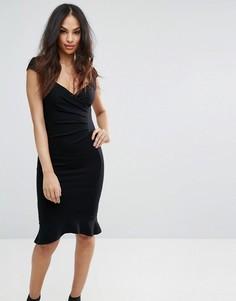 Облегающее платье с клешем Lipsy - Черный