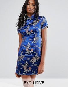 Платье мини с отделкой Reclaimed Vintage Inspired - Синий