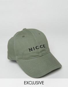 Бейсболка цвета хаки Nicce London - Зеленый