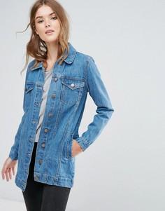 Длинная джинсовая куртка Brave Soul Acer - Синий
