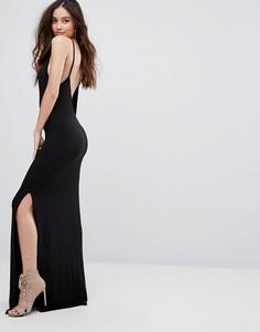 Платье макси с открытой спиной Boohoo - Черный