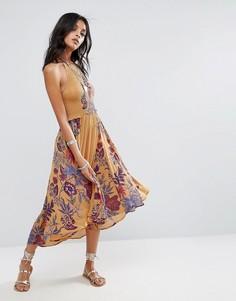 Платье-комбинация Free People Seasons Sun - Желтый