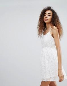Платье на бретелях с вышивкой Brave Soul Bella - Бежевый