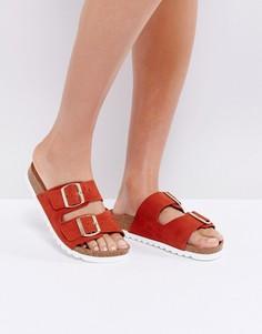 Сандалии на плоской подошве с двумя пряжками Vero Moda - Красный