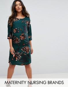 Цельнокройное платье с цветочным принтом Mamalicious - Мульти Mama.Licious