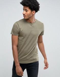 Однотонная жаккардовая футболка Bellfield - Зеленый