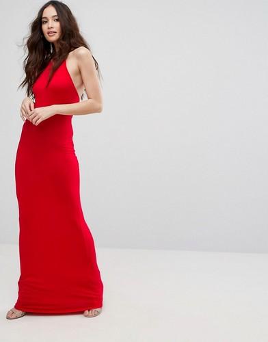 Платье-халтер макси Boohoo - Красный