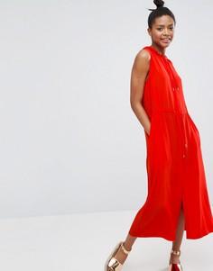 Платье на молнии Monki - Красный