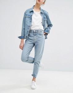 Джинсы в винтажном стиле из жесткого денима Weekday Seattle - Синий