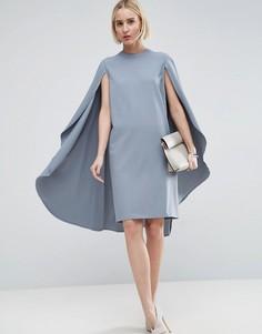Платье миди ASOS WHITE - Серый
