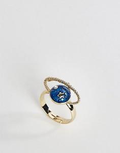Кольцо ограниченной серии с планетой - Синий Asos