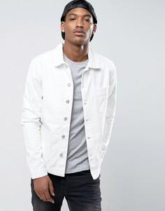 Белая джинсовая куртка с карманами New Look - Белый