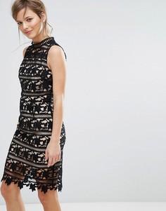 Облегающее кружевное платье New Look - Черный