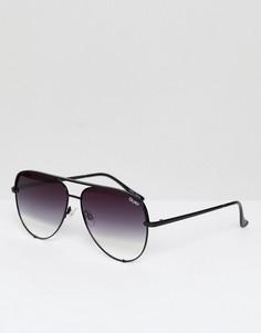 Солнцезащитные очки с черными стеклами деграде Quay Australia X Desi High Key - Черный