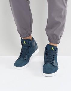 Средние кроссовки Nike Air Jordan 1 554724-421 - Синий