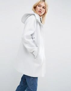 Куртка с контрастной молнией ASOS - Белый