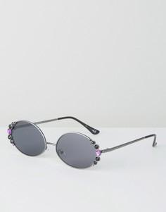 Солнцезащитные очки с отделкой ASOS - Черный