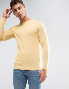 Желтый хлопковый обтягивающий джемпер ASOS - Желтый