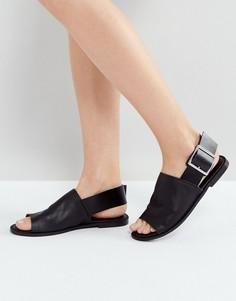 Кожаные сандалии ASOS FLEET STREET - Черный