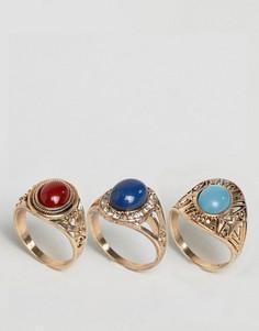 3 кольца с камнями ASOS - Мульти