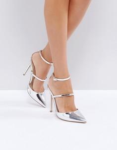 Туфли на каблуке с заостренным носком ASOS PICTURE PERFECT - Серебряный
