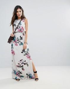 Платье макси с цветочным принтом Soaked In Luxury - Мульти