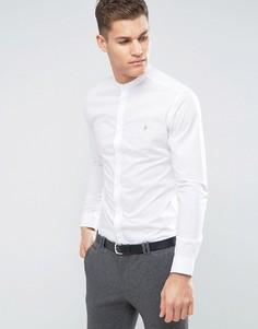 Узкая строгая рубашка с воротником на пуговице Farah - Белый