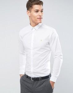 Строгая рубашка узкого кроя с длинными рукавами Farah - Белый