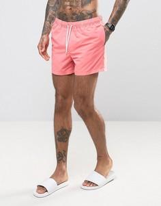 Короткие шорты для плавания кораллового цвета ASOS - Розовый