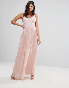 Платье макси с кружевом Club L - Розовый