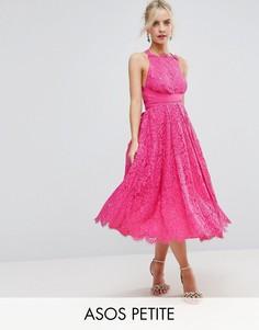 Кружевное платье миди для выпускного ASOS PETITE SALON - Мульти