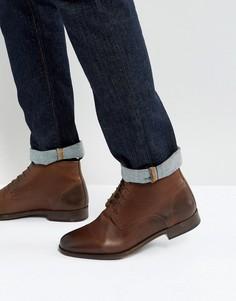 Ботинки чукка из коричневой кожи ASOS - Коричневый