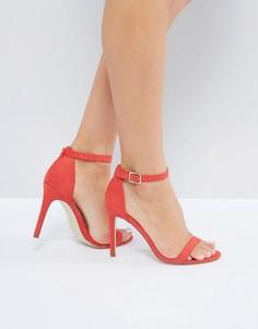 Босоножки на каблуке London Rebel - Красный